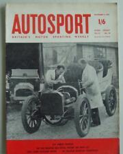 AUTOSPORT Magazine 4 Nov 1960 - Formula Junior Elva Test + Montlhéry 1000kms
