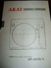 ORIGINAL AKAI SERVICE MANUAL AP-Q310/C   NICE!