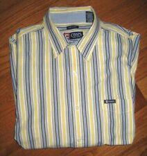 CHAPS Men's Dress Shirt Sz XL Easy Care Multicolored Striped Pocket Button-Down