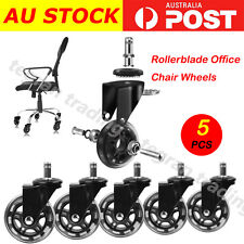 5pcs Rollerblade Office Desk Chair Wheels Replacement Rolling Grip Ring Casters