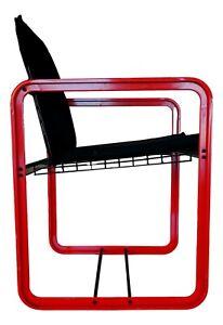 Chair Armchair Quadra Manufacture seccose Years 80 Design Giant Zambusi Boccato