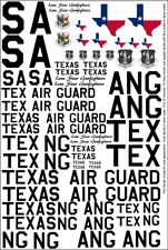 Texas Air National Guard Decals 1/32 1/48 1/72 F-16 F-86 P-51 F-102 F-4 T-33 Ang