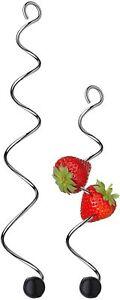 WMF Fruchtspieße 2-teilig, Spieße in 2 Größen, mit Silikonkugel, Cromargan NEU!