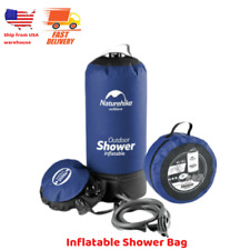Portable Outdoor Inflatable Camping Shower Pressure Water Bathing Bag Folding