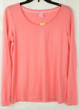 Jenni By Jennifer Moore Women's Pink Long Sleeve Pajama Top Size M