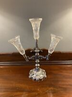 Antique Walker & Hall Silver Plated Ornate Repousse Epergne