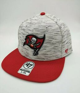 Tampa Bay Buccaneers Bucs cap stretch fit '47 Brand red gray defender