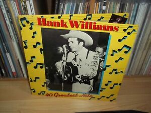 HANK WILLIAMS 40 Greatest Hits UK 1978 MGM 1st Edition MONO 2xLP Full Play Test