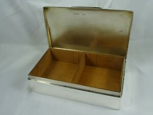 VERY LARGE, sterling silver CIGARETTE BOX, 1919