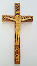 Hand Carved Wooden Crucifix Made in Bethlehem