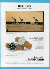 BELLEU998-PUBBLICITA'/ADVERTISING-1998- HIGHLANDS BY JEANRICHARD