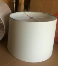 """Contemporary Style Fabric Drum Lamp shade 15"""" w x 11"""" ht  Lt Gray"""