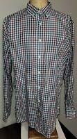 Johnnie-O Mens West Coast Prep Long Sleeve Button-Up Shirt XL Multicolored Check