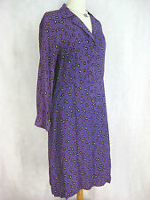 Leona Edmiston Size 4 16 Purple jellybean designer shirt dress