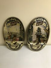 12 X 20 Vintage 70s Schlitz ON DRAUGHT Beer Glass Mirror 1972 Wall Sign Pair NOS