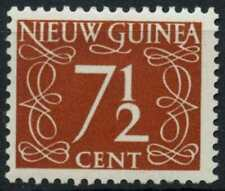 Netherlands New Guinea 1950-2 SG#7, 7.5c Chestnut Definitive MH #E13751