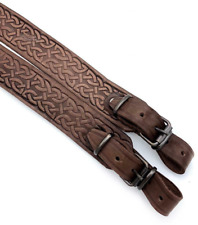 Quality Leather Rifle Shotgun Ammo Sling Hunting Shoulder Strap. Made in Ukraine