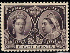 Canada Stamp #56 - Queen Victoria Jubilee (1897) 8¢ MH