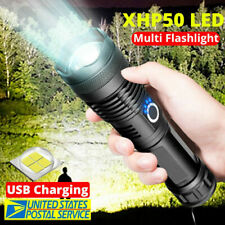 XH-P50 High Power Lumens LED Flashlight USB Rechargeable Zoom Torch Light US