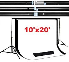 Pro 10'x10' 100% steel made backdrop stand support system 10'x20' backdrops kit
