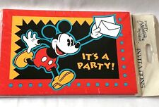 NEW Vintage Celebrations by Gibson MICKEY MOUSE  8 Birthday Party INVITATIONS