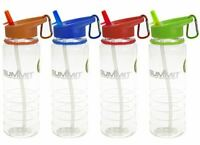 Summit 700ml Water Bottle with Folding Straw - 1 Unit Red Bottle