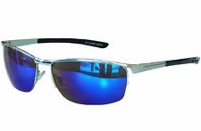 Occhiali da sole MATRIX SPORT cromo argento blu a specchio Occhiali moto m21