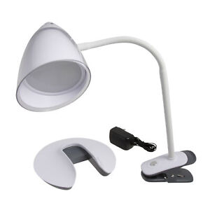 Illuminator 2 In 1 Clip On Flex Stand LED Desk Lamp with Removable Base WTG-071B