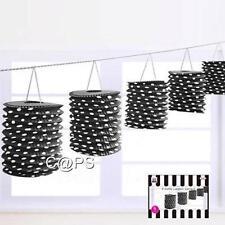 Black and White Polka Dot Lanterns...Garland...5 Metres