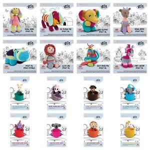 Knitty Critters Pocket Pals / Basket Buddies - Cute Animals Crochet Kit - CHOOSE