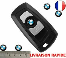 2 Pcs Logo Stickers Clé Clefs BMW 11 mm en Aluminium Emblème Autocollant Voiture