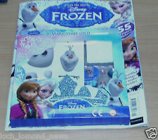 Disney Frozen magazine comic Launch Issue #1 + Make Your Own Tiara & Olaf Frame