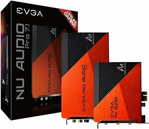 EVGA NU Audio Pro 7.1 Surround Lifelike Audio PCIe RGB LED Backplate Sound Card