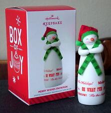 Hallmark MERRY WISHES SNOWMAN 2014 Limited Edition Keepsake Ornament – NEW!