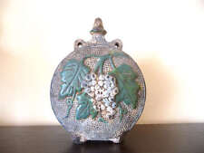 1925 Handmade Antique Large Pottery Glazed Ceramic Pitcher Jug Flask Canteen