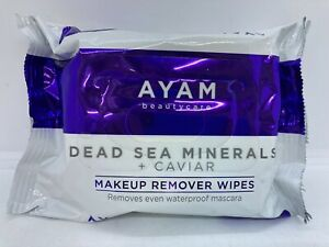AYAM Dead Sea Minerals + Caviar Makeup Remover Wipes 25 Towelettes