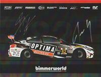 "2018 bimmerworld #82 ""1st issued"" BMW M4 GT4 GS signed IMSA CTSC postcard"