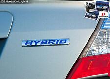 For Honda Hybrid Emblem Silver Blue Letters Badge Sticker Decal Jdm Civic New Fits 2012 Honda Civic