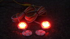 3 wire Red LED truck trailer motorcycle marker stop turn Dual Mode Light pair