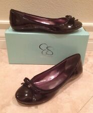 NEW JESSICA SIMPSON Black Patent Leather Ballet Flats Slip-On Loafer Shoes 7.5 M