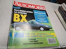L AUTOMOBILE MAGAZINE N° 502 1988 FERRARI 375-R 21 NEVADA 4X4-ARO 10-OPEL KADE *