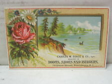 Charles W. Bragg & Co. Dealers in Boots etc Providence,Rhode Island Trade Card