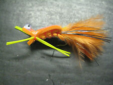12 Electric Frog Orange Foam Chernobyl # 6 Fly Fishing Flies Brookside