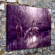 """12""""x16""""A7467-In dians Before Sunset Home Decor Hd Canvas Print Wall Art Picture"""