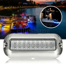 3.5'' BLUE W/ 316SS COVER 27 LED UNDERWATER PONTOON BOAT TRANSOM LIGHT