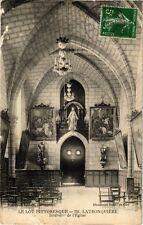CPA  Le Lot Pittoresque - Latronquiére - Intérieur l'Église   (224033)