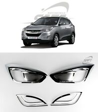 SAFE Chrome Fog Lamp Molding 4Pcs For Hyundai Tucson ix 2010 2013