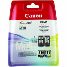Genuine Canon PG-510 and CL-511 Ink Cartridges - Black + Multicoloured Twin Set