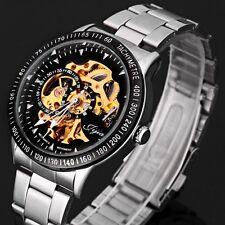 Superbe Montre Automatique  Squellette Homme Bracelet Acier Men Mechanical Watch