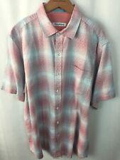 Tommy Bahama Shirt Size Medium Ravenna Plaid T322514 Glazed Razzberry Linen A10